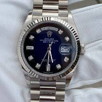 Rolex Day-Date 36 White gold 36mm Blue No numerals United States of America, Texas, HOUSTON