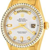 Rolex Day-Date 36 Желтое золото 35mm Белый Без цифр
