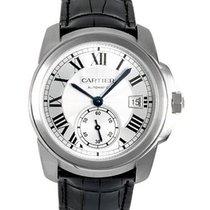 Cartier WSCA0003 Calibre De Cartier in Steel - on Black...