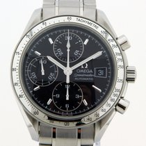Omega Speedmaster Date Steel 39mm Black No numerals