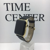Apple Watch 18K Yellow Gold Case with Black Classic Buckle...