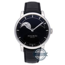 Arnold & Son 42mm Manual winding pre-owned HM Perpetual Moon Black