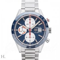 TAG Heuer Carrera Calibre 16 Staal 41mm Blauw