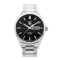 TAG Heuer Carrera Calibre 5 pre-owned 41mm Black Date Fold clasp