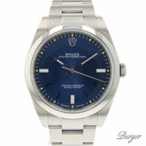 Rolex Oyster Perpetual 39 Ατσάλι 39mm Μπλέ