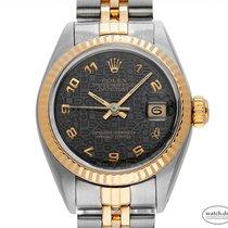 Rolex Lady-Datejust rabljen 26mm Smedj Datum, nadnevak Zlato/Zeljezo