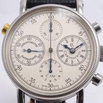 Chronoswiss Chronograph Rattrapante Stahl 38mm Weiß Deutschland, Krefeld