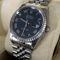 Rolex Oyster Datejust Steel Deep Blue Roman Dial 36 mm (1991)