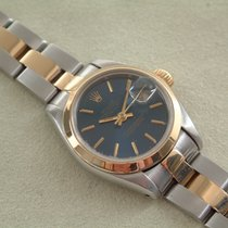 Rolex Oyster Perpetual Lady Date Gold/Steel 26mm Blue