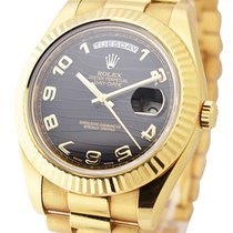 Rolex Used 218238_used_black_wave Day-Date II President in...