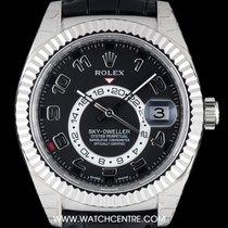 Rolex Or blanc Remontage automatique Noir Arabes 42mm occasion Sky-Dweller
