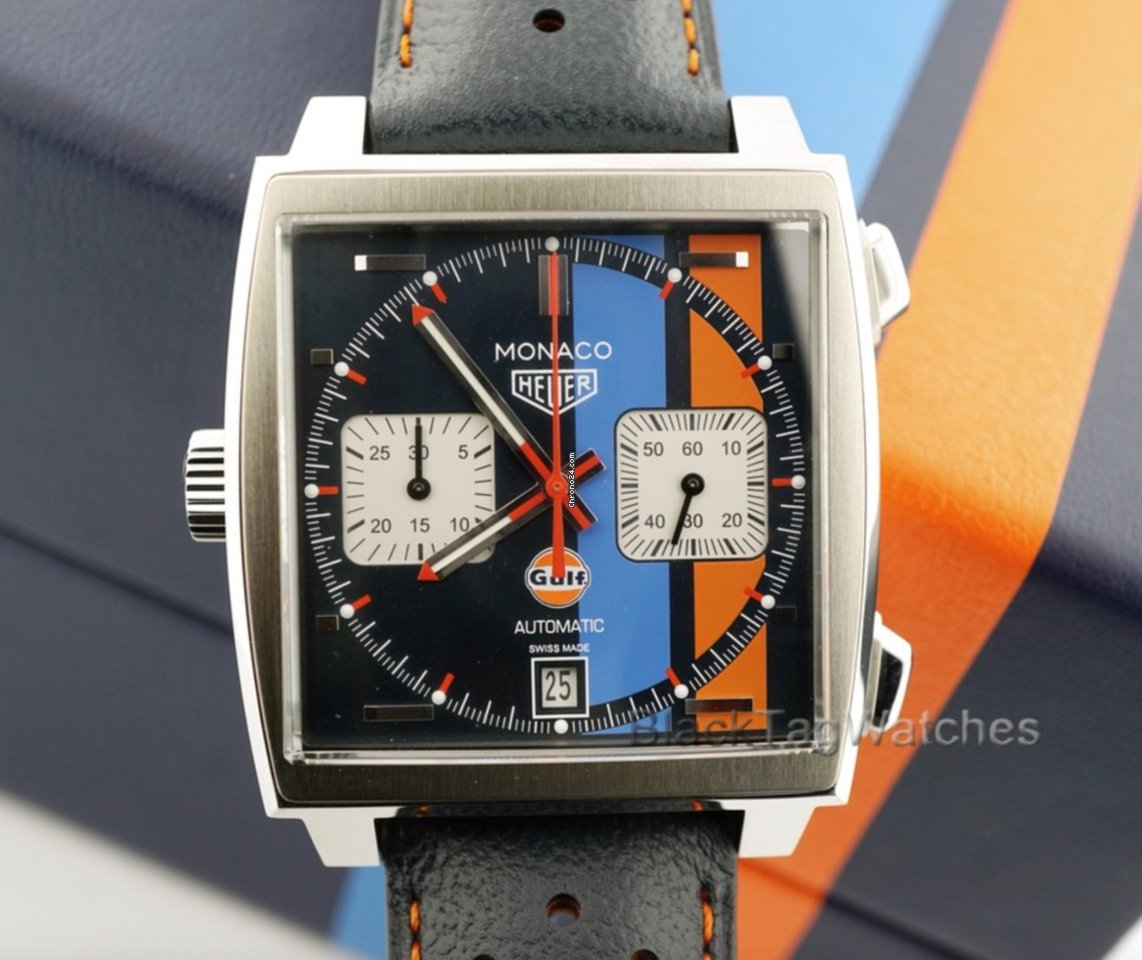 6e14471aa TAG Heuer Monaco Gulf Special Edition for $4,900 for sale from a Trusted  Seller on Chrono24