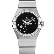 Omega Constellation Ladies Stahl 27mm Schwarz