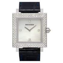 Boucheron White gold Quartz Mother of pearl No numerals 30mm pre-owned