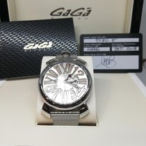 Gaga Milano Steel Quartz 24666 new