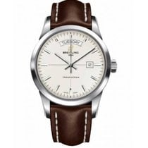 Breitling Transocean Day & Date Сталь 43mm Cеребро