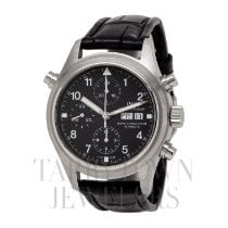 IWC Pilot Double Chronograph pre-owned 42mm Black Double chronograph Date Buckle