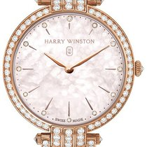 Harry Winston Rose gold Automatic Mother of pearl 36mm new Premier