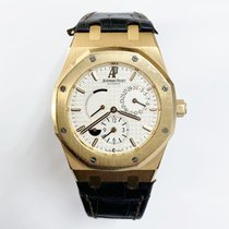 Audemars Piguet Royal Oak Dual Time Oro rosado 39mm Plata Sin cifras