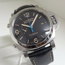 Panerai Luminor 1950 3 Days Chrono Flyback Zeljezo 44mm Crn
