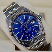 Rolex Steel Automatic Blue No numerals 42mm new Sky-Dweller