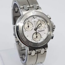 Pequignet Moorea Steel 38mm White No numerals