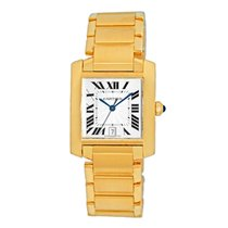 Cartier Tank Française Yellow gold 33mm Silver Roman numerals United States of America, Georgia, Atlanta