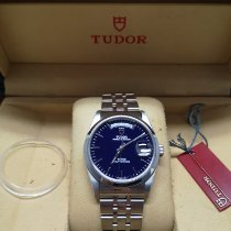 Tudor Prince Date Steel 36mm Blue No numerals