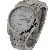 Rolex Used 118239_used Mens President in White Gold with...