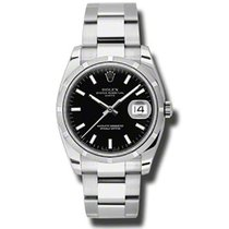 Rolex Oyster Perpetual Date 115210 bkio new