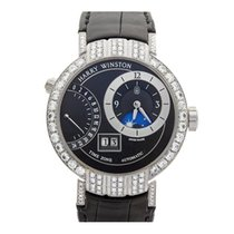 Harry Winston Premier Excenter Timezone 18k White Gold Gents...
