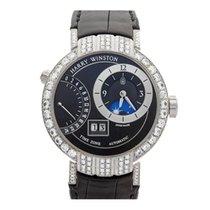 Harry Winston Premier Excenter Timezone Afterset Diamonds 18k...