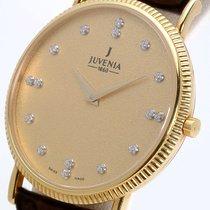Juvenia Yellow gold 33.2mm Quartz 11739 new