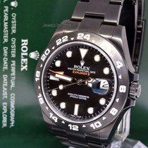 Rolex Explorer II Black Steel PVD Mens Watch & Box 42mm...