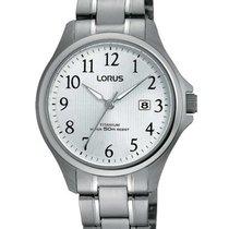 Lorus Titânio Quartzo Prata 28mm novo