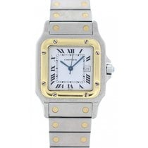 Cartier Santos Galbee Yellow Gold Stainless Steel Automatic