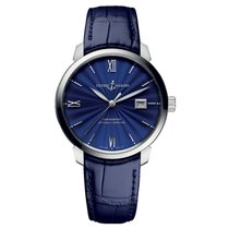 Ulysse Nardin pre-owned Automatic 40mm Blue Sapphire crystal 5 ATM