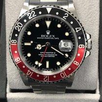 Rolex GMT Master II 16710 Coke Bezel Black & Red Stainless...