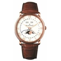 Blancpain Villeret Quantième Complet Rose gold 40mm Silver Roman numerals United States of America, New York, New York
