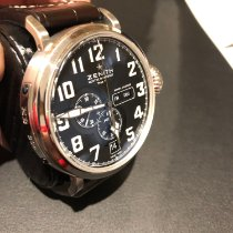 Zenith Pilot Type 20 Annual Calendar pre-owned 48mm Black Chronograph Date Weekday Month Annual calendar Buckle