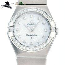 Omega Constellation Quartz Stahl 24mm Weiß