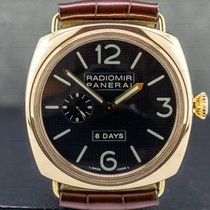 Panerai Radiomir 8 Days Rose gold 45mm Black Arabic numerals