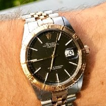 Rolex Datejust Turn-O-Graph Gold/Steel 36mm Black No numerals