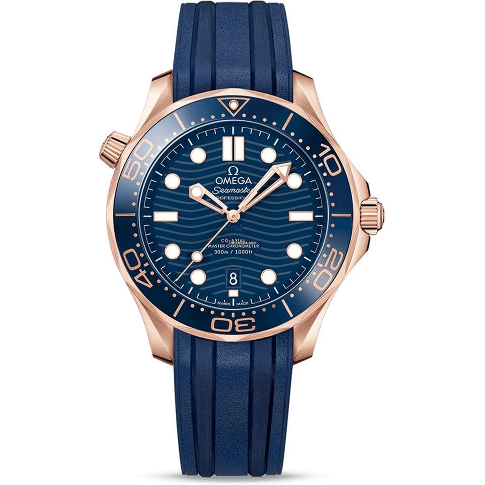 Omega Seamaster Diver 300 M Rose Gold Chrono24 Com