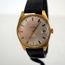 Omega Genève pre-owned 35mm Champagne Date Leather