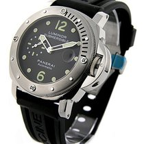 Panerai PAM00024 PAM 24 - Luminor Submersible - Steel on Strap...