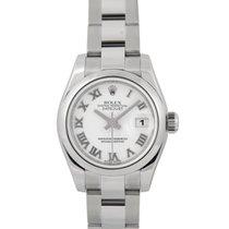 Rolex Datejust Ladies White Dial, Ref: 179160 Full Set (Rehuat)