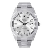 Rolex Datejust 41mm Stainless Steel Silver Dial Oyster...
