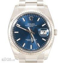 Rolex Date 115234  Blue Index Dial Unworn B+P 10/2017 LC100