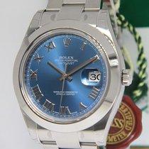 Rolex Datejust II Steel Blue Roman Dial 41mm Mens Watch with...